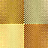 Set metallic seamless patterns Stock Photography