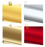 Set of metallic stickers Royalty Free Stock Photography