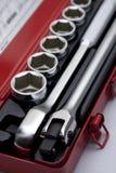 Set of metallic tools Royalty Free Stock Photo