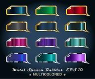Set metallische Aufkleber Stockfoto
