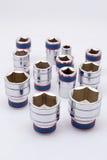 Set metallische Hilfsmittel Stockfoto