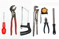 Set metalwork narzędzia Obraz Royalty Free