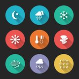 Set of meteorological icons Royalty Free Stock Images