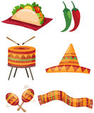 Set of mexican Stock Photo