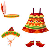 Set of mexican accessories Royalty Free Stock Photo