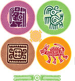 Set of Mexican Design Elements Stock Image