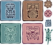 Set of Mexican Design Elements Stock Photography