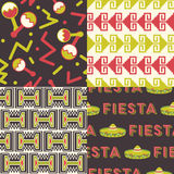 Set of Mexican Patterns Stock Image