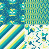 Set of Mexican Patterns. Collection of 4 Funky mexican seamless patterns celebrating Cinco de Mayo holiday royalty free illustration