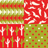 Set of Mexican Patterns Royalty Free Stock Photography