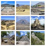 Set of Mexican Pyramids royalty free stock photo
