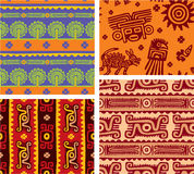 Set of Mexican Seamless Tiles. Background, Wallpaper vector illustration