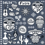 Set of Mexican vector symbols Royalty Free Stock Images