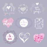 Set miłość elements4 Obraz Royalty Free