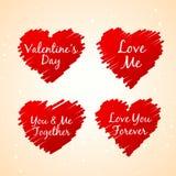 Set miłość serc wektorowy projekt Zdjęcia Royalty Free
