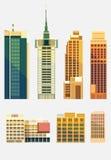 Set miasto budynki Zdjęcie Royalty Free