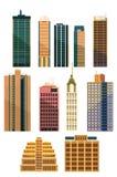 Set miasto budynki Fotografia Stock