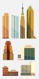 Set miasto budynki Obrazy Stock
