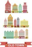 Set miasto domy Zdjęcie Royalty Free