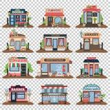 Set miasto jawni budynki royalty ilustracja