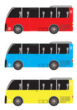 Set of Micro bus or Mini bus isolated in white background Stock Photo