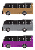 Set of Micro bus or Mini bus isolated in white background Royalty Free Stock Image