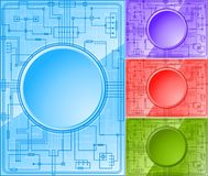 Set of Microchips. Set of color microchips with copy-space. Additional vector format in EPS 8 Stock Images