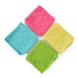 Set of microfiber cleaning cloths. Royalty Free Stock Images