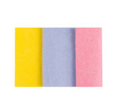Set of Microfiber cleaning towel over white Royalty Free Stock Image