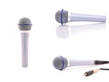 Set microphone. Isolated on a white background Royalty Free Stock Images