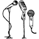Set microphone Stock Images