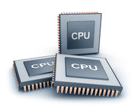 Set of microprocessors Royalty Free Stock Images