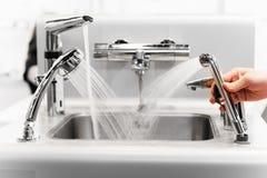 Set miesza faucets woda Fotografia Stock