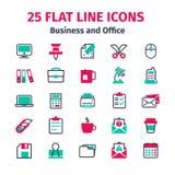 Set 25 mieszkań kreskowych ikon Zdjęcia Stock