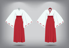Set of miko suit, traditional japanese costume Stock Photography