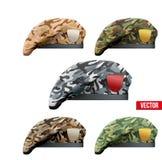 Set Militarne Camo bereta jednostki specjalne ilustracji