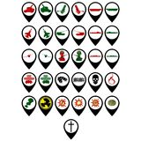 Set militarne ikony Fotografia Stock