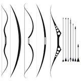 Set militarni łęki średniowieczne broń Obrazy Royalty Free