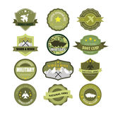 Set of military and armed forces badges and labels Royalty Free Stock Images