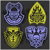 Set Of Military - Army Patches and Badges 4 Royalty Free Stock Photography