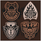 Set Of Military - Army Patches and Badges  Stock Photos