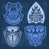 Set Of Military - Army Patches and Badges  Royalty Free Stock Images