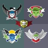 Set  Military emblem. Label on the form Stock Image