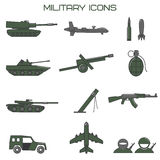 Set of military icons. Stock Image