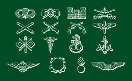 Set of military medals and symbols Royalty Free Stock Photography