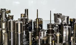 Set of milling tools royalty free stock photo
