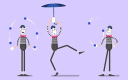 A set of mimes 04 Stock Images