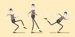A set of mimes 05 Stock Images