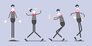 A set of mimes 02 Royalty Free Stock Photos