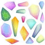 Set of mineral crystals Royalty Free Stock Photo